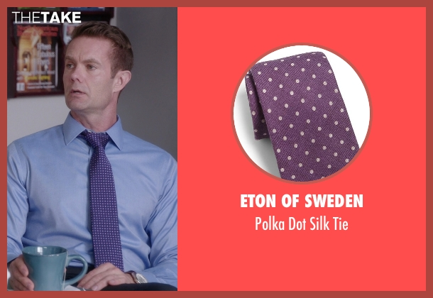 Eton Of Sweden purple tie from The Mindy Project seen with Jody Kimball-Kinney  (Garret Dillahunt)