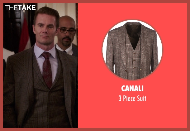 Canali suit from The Mindy Project seen with Jody Kimball-Kinney  (Garret Dillahunt)