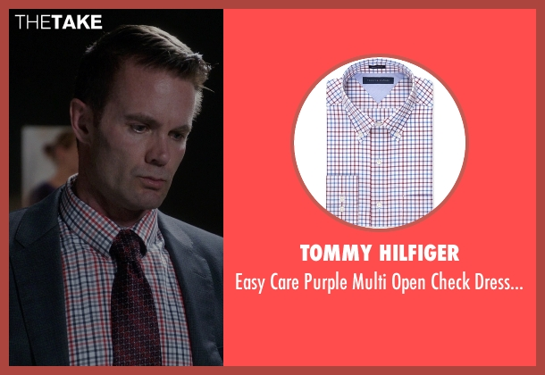 Tommy Hilfiger white shirt from The Mindy Project seen with Jody Kimball-Kinney  (Garret Dillahunt)