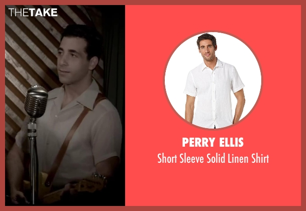 Perry Ellis white shirt from Jersey Boys seen with Joe Abraham (Rockabilly Singer)