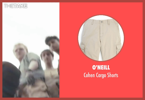 O'Neill beige shorts from The Maze Runner seen with Joe Adler (Zart)