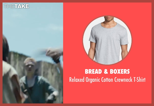 Bread & Boxers gray t-shirt from The Maze Runner seen with Joe Adler (Zart)