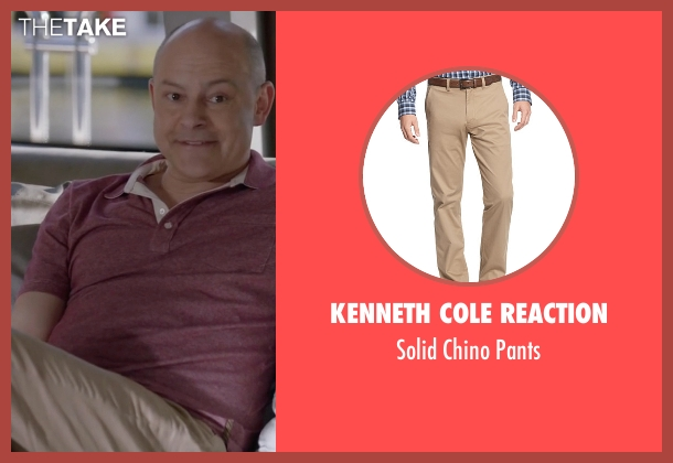Kenneth Cole Reaction beige pants from Ballers seen with Joe (Rob Corddry)