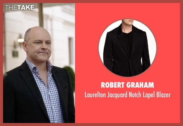 Robert Graham black blazer from Ballers seen with Joe (Rob Corddry)