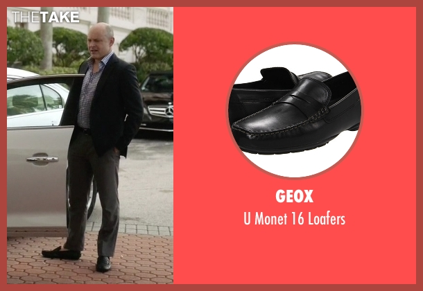 Geox black loafers from Ballers seen with Joe (Rob Corddry)