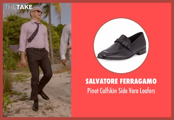 Salvatore Ferragamo black loafers from Ballers seen with Joe (Rob Corddry)