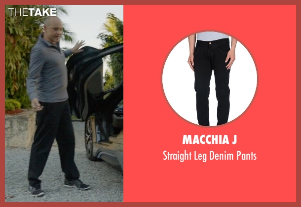 Macchia J black pants from Ballers seen with Joe (Rob Corddry)