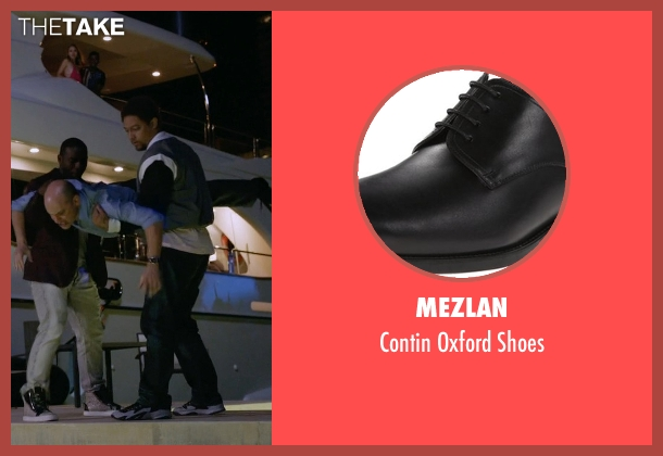 Mezlan black shoes from Ballers seen with Joe (Rob Corddry)