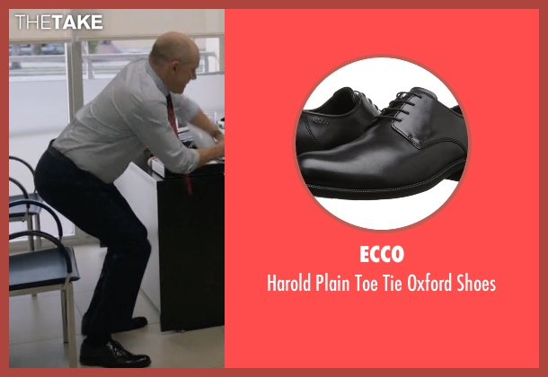Ecco black shoes from Ballers seen with Joe (Rob Corddry)