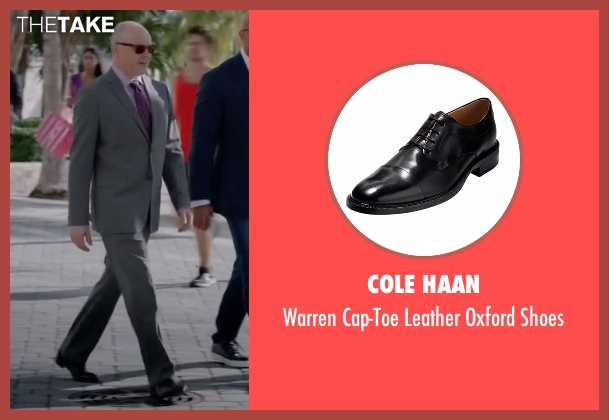 Cole Haan black shoes from Ballers seen with Joe (Rob Corddry)