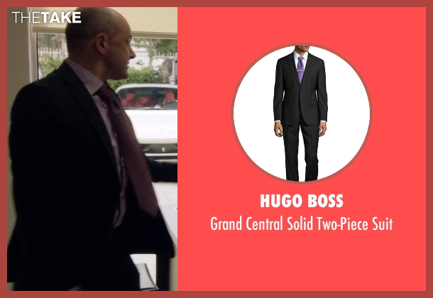 Hugo Boss black suit from Ballers seen with Joe (Rob Corddry)