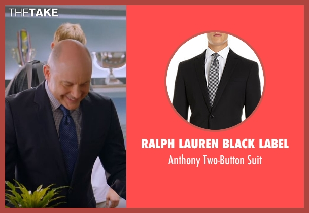 Ralph Lauren Black Label black suit from Ballers seen with Joe (Rob Corddry)