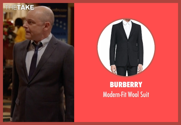 Burberry black suit from Ballers seen with Joe (Rob Corddry)
