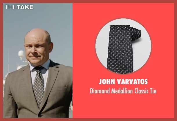 John Varvatos black tie from Ballers seen with Joe (Rob Corddry)