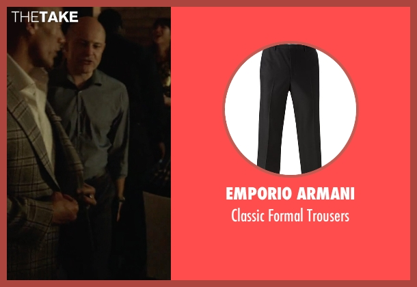 Emporio Armani black trousers from Ballers seen with Joe (Rob Corddry)