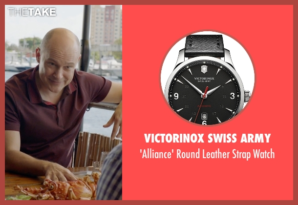 Victorinox Swiss Army black watch from Ballers seen with Joe (Rob Corddry)