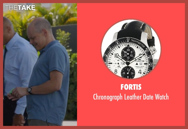 Fortis black watch from Ballers seen with Joe (Rob Corddry)