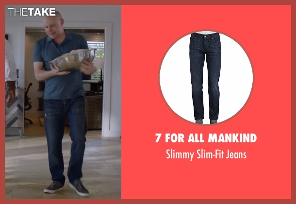 7 For All Mankind blue jeans from Ballers seen with Joe (Rob Corddry)