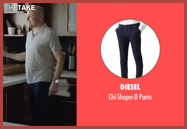 Diesel blue pants from Ballers seen with Joe (Rob Corddry)