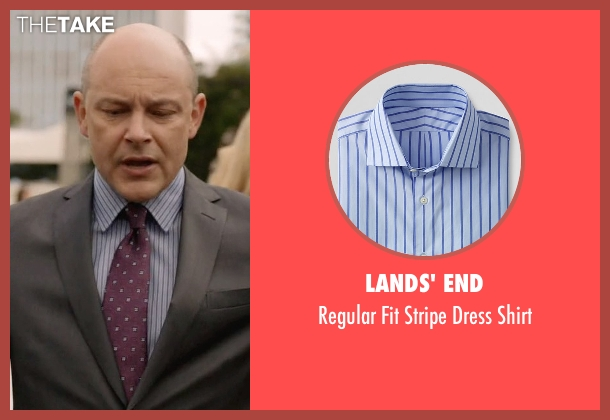 Lands' End blue shirt from Ballers seen with Joe (Rob Corddry)
