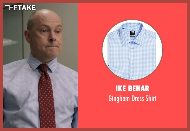 Ike Behar blue shirt from Ballers seen with Joe (Rob Corddry)