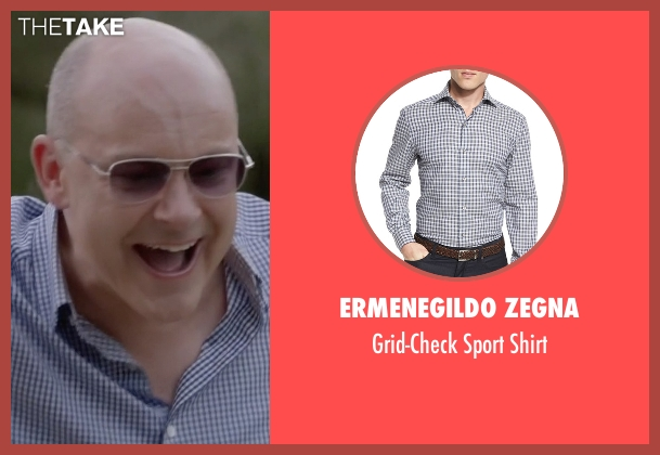 Ermenegildo Zegna blue shirt from Ballers seen with Joe (Rob Corddry)
