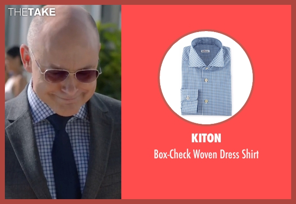 Kiton blue shirt from Ballers seen with Joe (Rob Corddry)