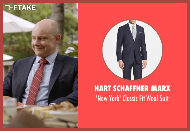 Hart Schaffner Marx blue suit from Ballers seen with Joe (Rob Corddry)