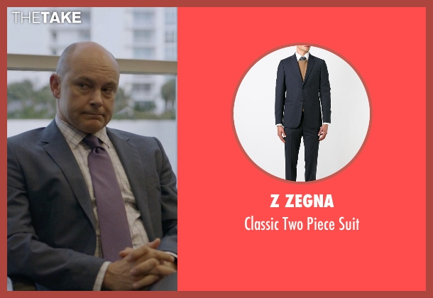 Z Zegna blue suit from Ballers seen with Joe (Rob Corddry)