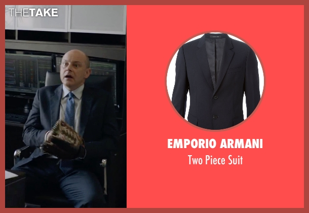 Emporio Armani blue suit from Ballers seen with Joe (Rob Corddry)