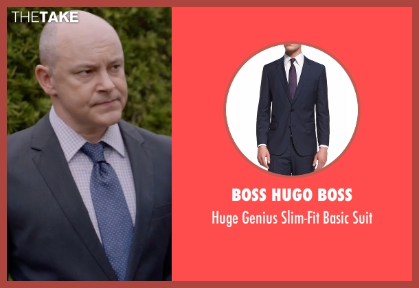Boss Hugo Boss  blue suit from Ballers seen with Joe (Rob Corddry)