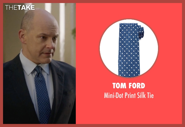 Tom Ford blue tie from Ballers seen with Joe (Rob Corddry)