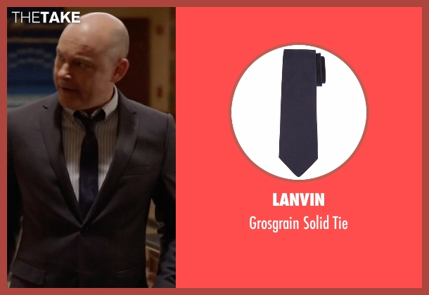 Lanvin blue tie from Ballers seen with Joe (Rob Corddry)