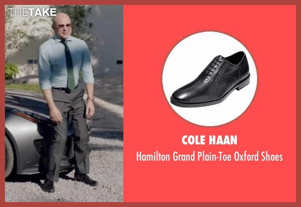 Cole Haan brown shoes from Ballers seen with Joe (Rob Corddry)