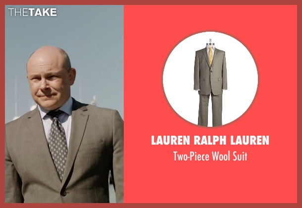 Lauren Ralph Lauren brown suit from Ballers seen with Joe (Rob Corddry)