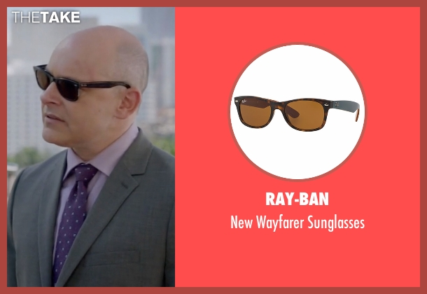 Ray-Ban brown sunglasses from Ballers seen with Joe (Rob Corddry)