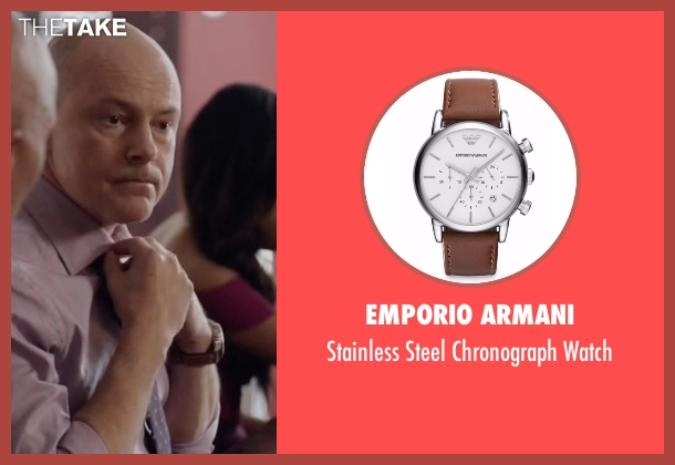 Emporio Armani  brown watch from Ballers seen with Joe (Rob Corddry)