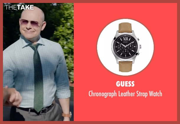 Guess brown watch from Ballers seen with Joe (Rob Corddry)