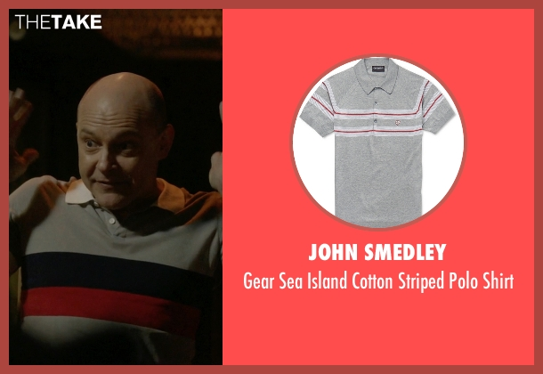 John Smedley gray shirt from Ballers seen with Joe (Rob Corddry)