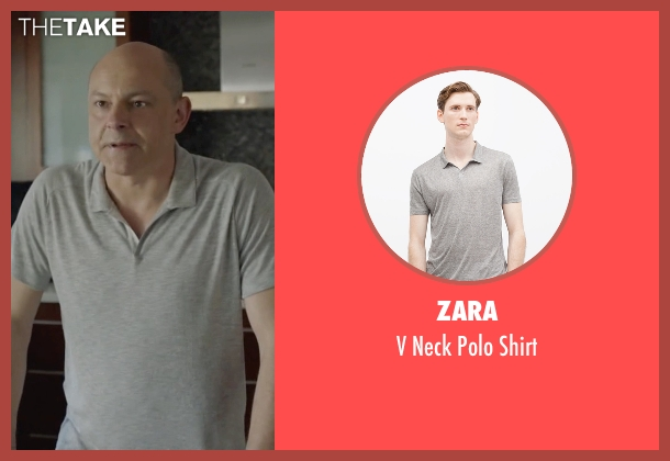 Zara gray shirt from Ballers seen with Joe (Rob Corddry)