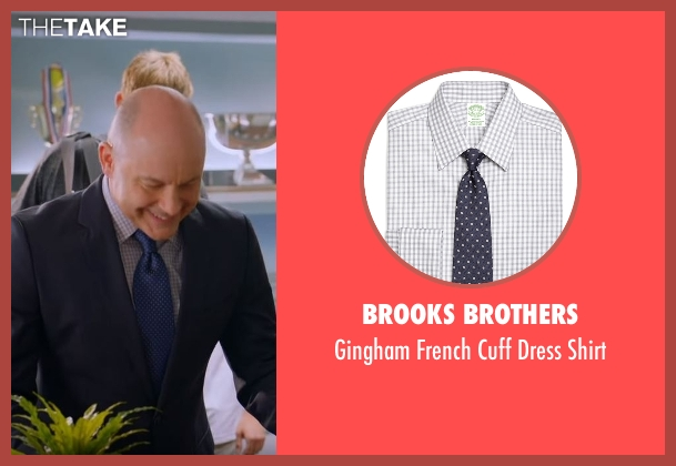 Brooks Brothers gray shirt from Ballers seen with Joe (Rob Corddry)