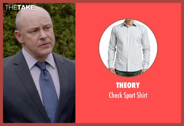 Theory  gray shirt from Ballers seen with Joe (Rob Corddry)