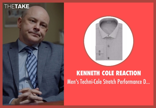 Kenneth Cole Reaction gray shirt from Ballers seen with Joe (Rob Corddry)