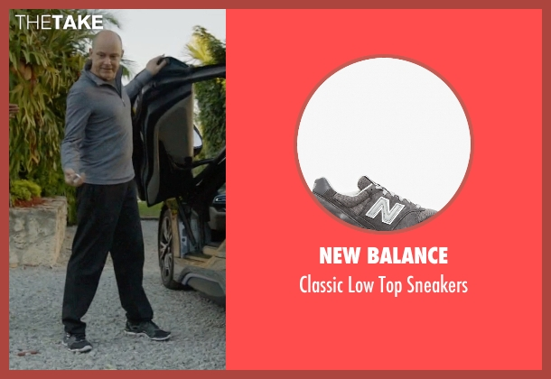 New Balance gray sneakers from Ballers seen with Joe (Rob Corddry)