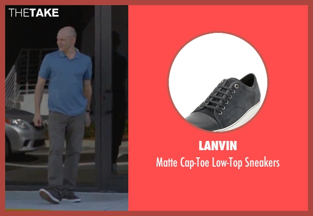 Lanvin gray sneakers from Ballers seen with Joe (Rob Corddry)