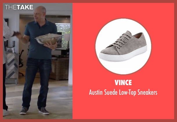 Vince gray sneakers from Ballers seen with Joe (Rob Corddry)