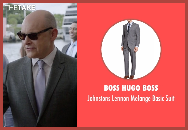 Boss Hugo Boss gray suit from Ballers seen with Joe (Rob Corddry)