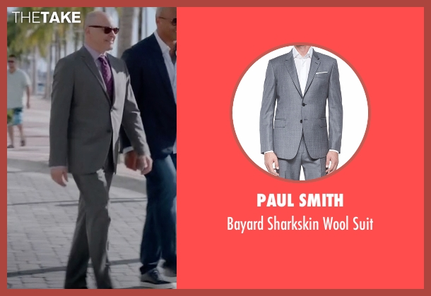 Paul Smith gray suit from Ballers seen with Joe (Rob Corddry)