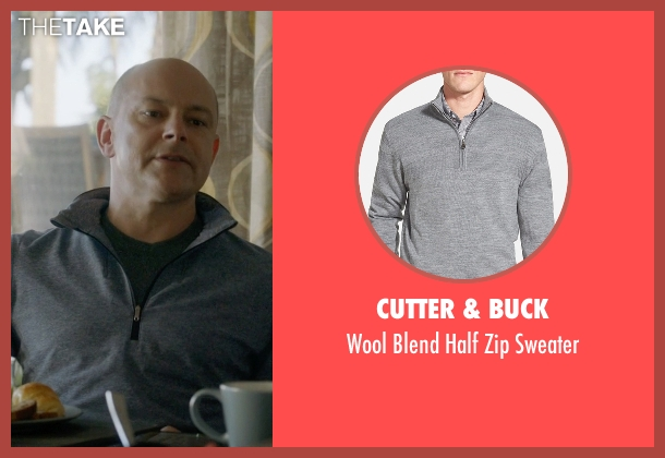 Cutter & Buck gray sweater from Ballers seen with Joe (Rob Corddry)