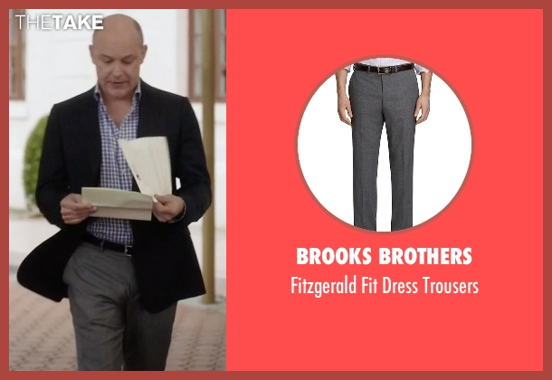 Brooks Brothers gray trousers from Ballers seen with Joe (Rob Corddry)